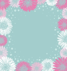 romantic frame with colorful flowers vector image vector image