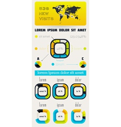 Elements of Infographics with buttons and menus vector image vector image