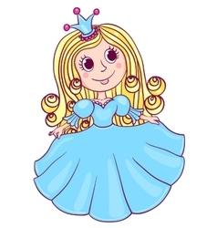 Little cute princess blue vector image
