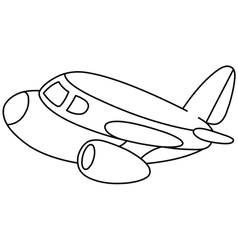 outlined plane vector image vector image