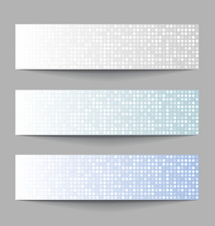 Set of technology pixel banners vector