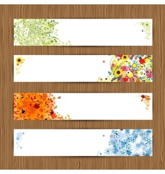 Four seasons - spring summer autumn winter Banners vector image vector image