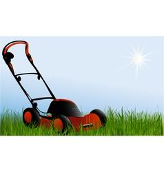 Lawn-mower vector image