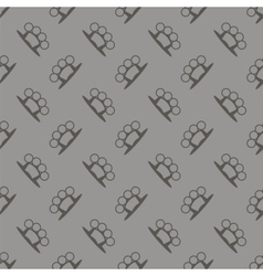 Metal Knuckles Silhouette Seamless Pattern vector image vector image