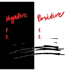 negative and positive vector image