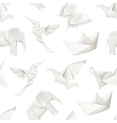 Origami seamless pattern vector image vector image