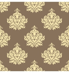Retro yellow floral seamless pattern background vector image