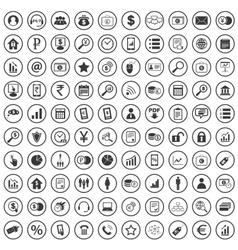 100 B2B icons set vector