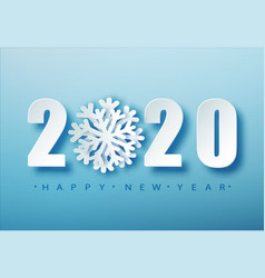 2020 blue christmas typography design winter vector