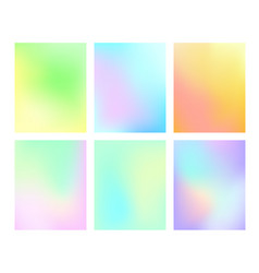 A set of gradient pastel background vector