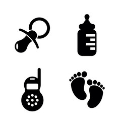baby children simple related icons vector image