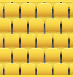 Background of plastic stadium seats vector