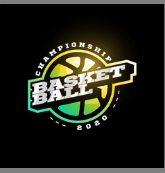 basketball modern professional sport typography vector image
