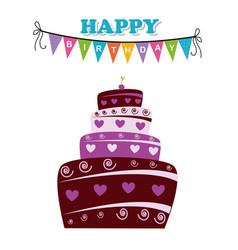 Birthday design over white background vector