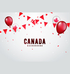 canada celebration background vector image