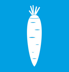 Carrot icon white vector