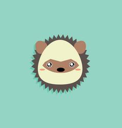 Cartoon porcupine face vector