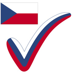 Check mark czech republic flag symbol elections vector