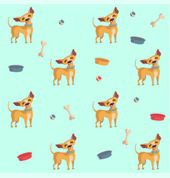 Chihuahua seamless pattern for textile paper vector