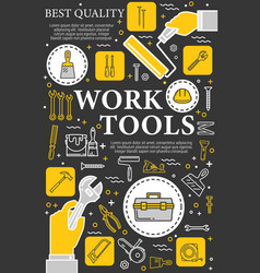 Construction repair and renovation hand tools vector