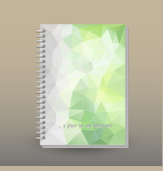 Cover of diary or notebook light green vector