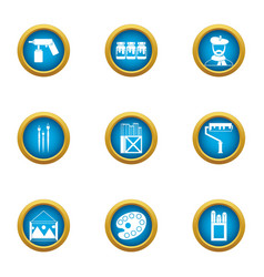 creative initiative icons set flat style vector image