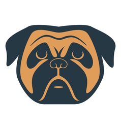 Dog muzzle vector
