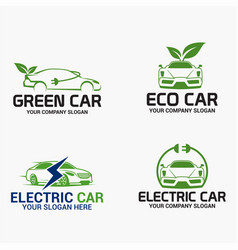 eco car logo vector image