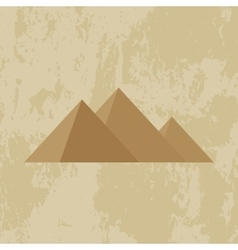 Egypt pyramid grunge background vector