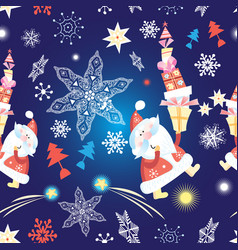 festive new year seamless pattern vector image