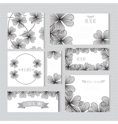 floral cards set vector image