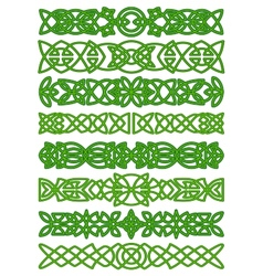 Floral celtic borders with traditional ornament vector image