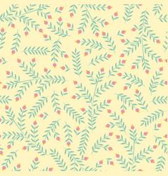 Flower pattern seamless botanic texture spring vector