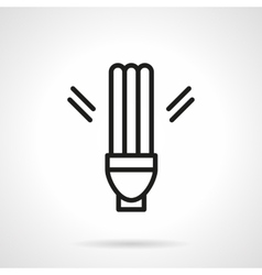 Fluorescent lamp simple line icon vector image