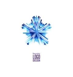 Futuristic Star Icon vector image