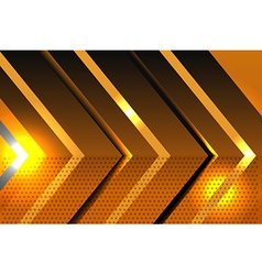 Geometric shapes abstract gold background vector