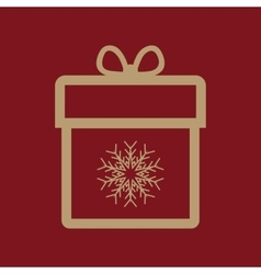 Gift box icon present symbol flat vector
