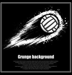 grunge black waterpolo background vector image