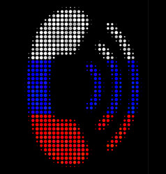 Halftone russian phone ring icon vector