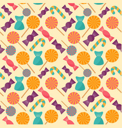 halloween colorful candy seamless pattern in vector image