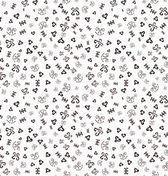 Hand drawn ornamental sketched Doodles seamless vector image