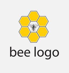 Honey bee logo concept vector
