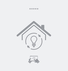 house with sustainable energy - web icon vector image