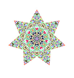 Isolated abstract flower star shape - geometrical vector