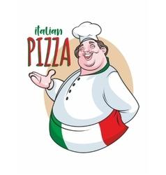 Italian cheef label vector