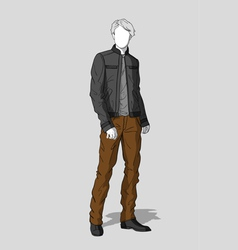 Jacket and pants for men vector