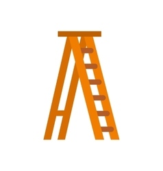 Ladder icon flat style vector image