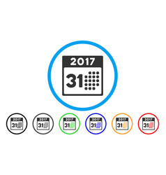 Last 2017 month day rounded icon vector