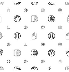 Leather icons pattern seamless white background vector