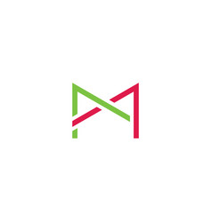 letter ma m and a logotype symbol design element vector image